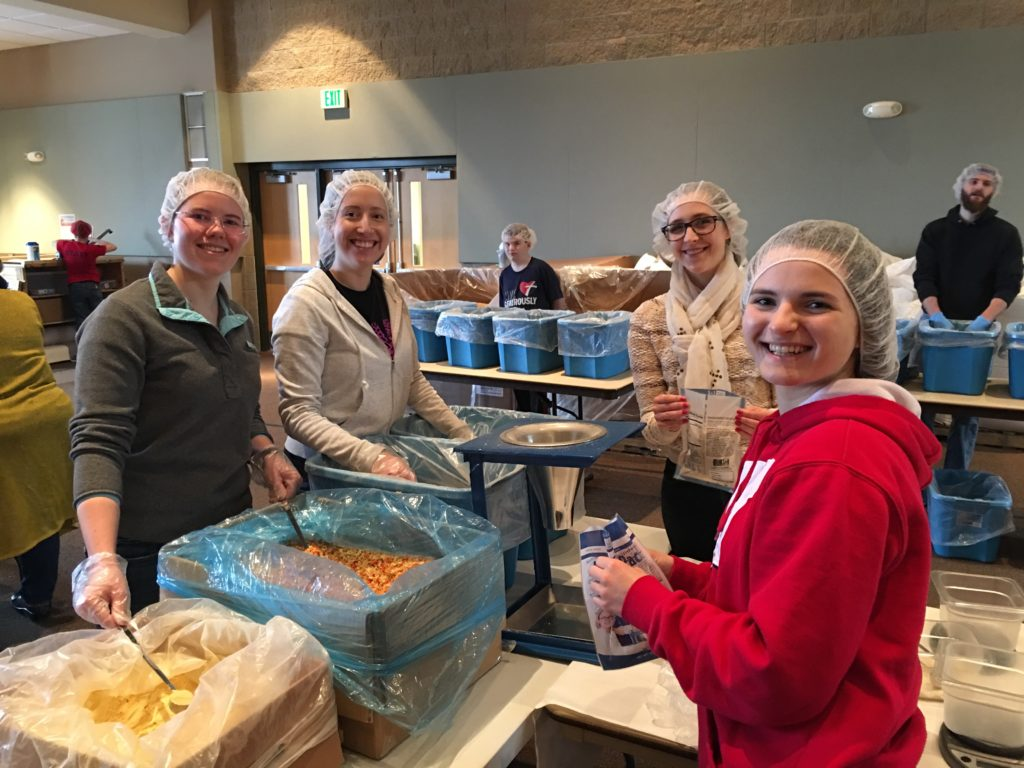 Volunteering for Feed My Starving Children