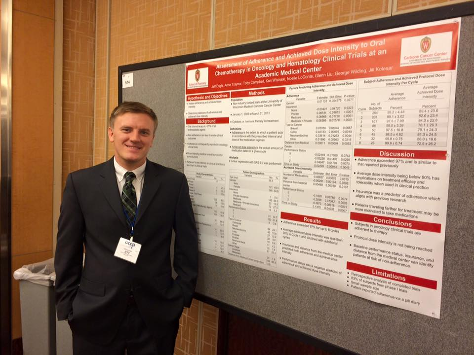 SCCP Alum Jeff Engel presenting a poster at the SCCP National Conference