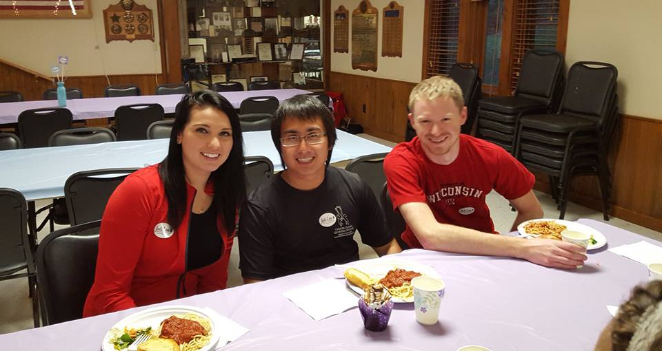 Volunteering at Sophie's Spaghetti Dinner